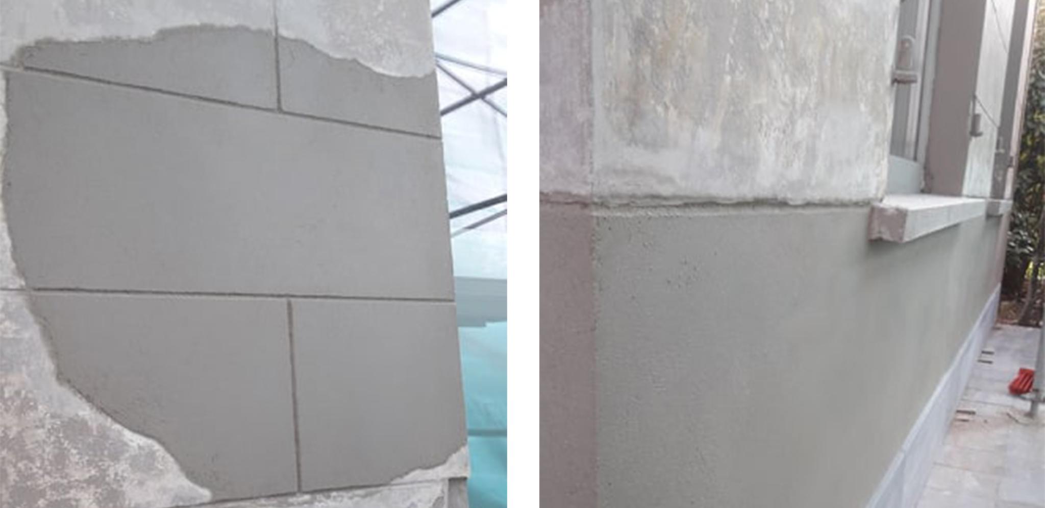 cementeerwerk plintgedeelte